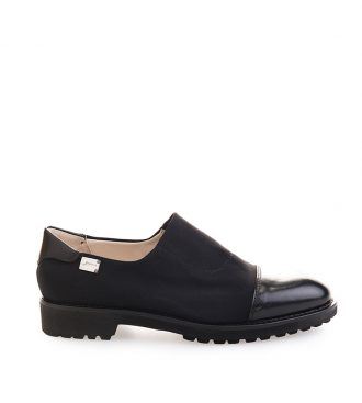 fabric and nappa low boots