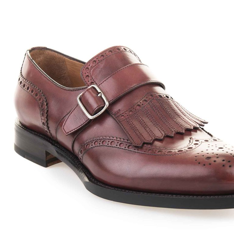 monk strap brogues with fringe