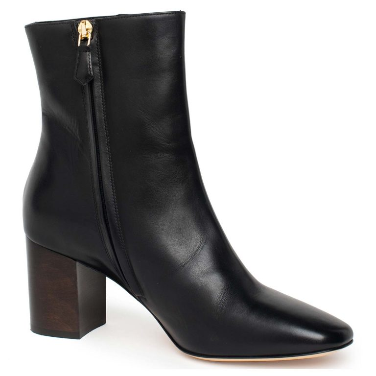 smooth calfskin zip ankle boots