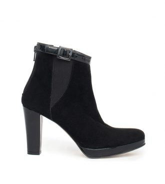 suede buckle ankle boots