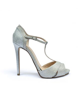 fabric stiletto sandals