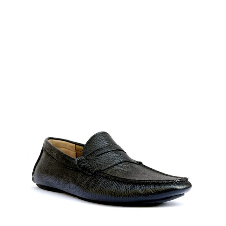 tumbled calfskin loafers