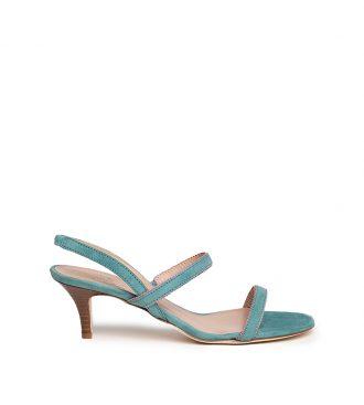 suede heeled sandals