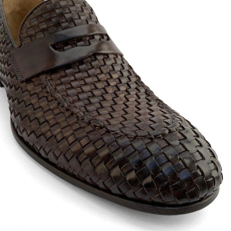 hand woven calfskin loafers