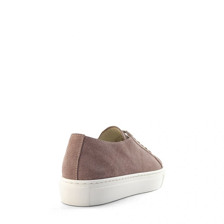 raw edge suede sneakers
