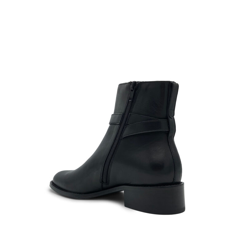 tumbled calfskin boots